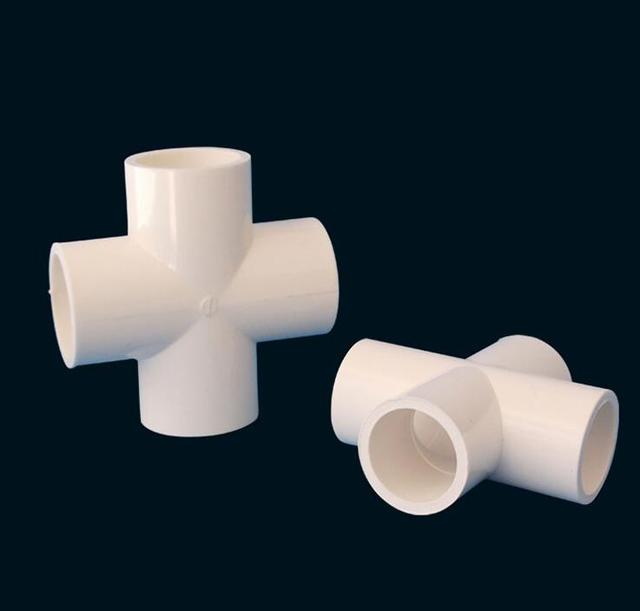 Us 7 5 20 25 32 40 50 63 75 90 110mm Pvc Pipe Cross Connector Garden Irrigation System Parts Tube 4 Way Adapter Fish Tank Supplies In Garden Water
