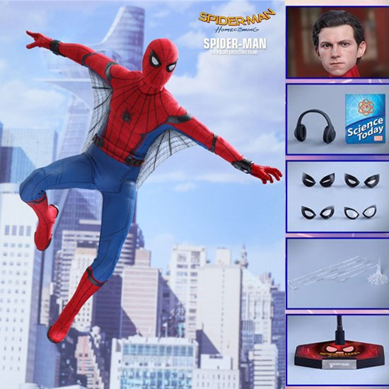 HC Hot Toys Compatible Marvel Avengers Spiderman 30cm BJD Joints Moveable Action Figure Toys Spider Man Hero