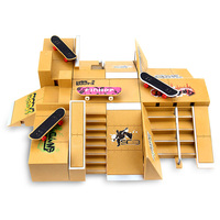 11pcs Skate Park Kit Ramp Parts For Tech Deck Fingerboard Excellent Gift For Extreme Sports Enthusiasts Suitable For All Ages