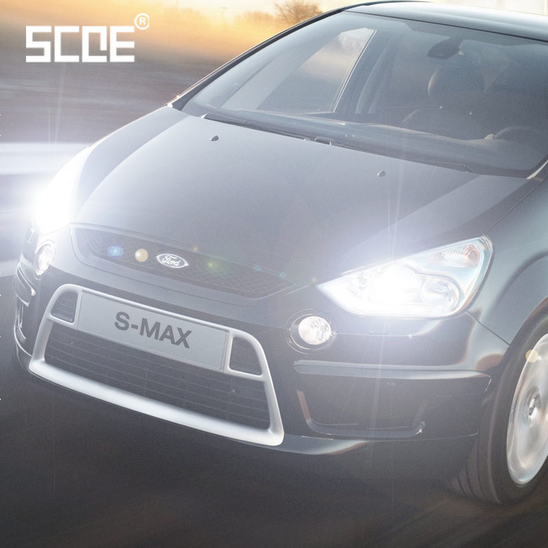 For ford S-Max SCOE 2PCS Auto Low Beam Super Halogen pære Forlygte Bil Styling varm hvid