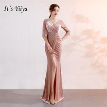 Вечернее платье v образным вырезом Шифон it's yiiya  вечерние
