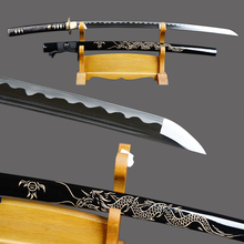 Fully Handmade Samurai Sword Japanese Katana High Carbon Steel Sharp Full Tang Blade Espada Dragon Engraved Saya Knife