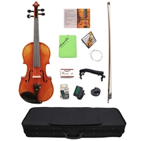 ABLD 4/4 Violin Solid Carved Spruce Top Flame Maple Handmade Professional Violin With Oblong Case And Bow