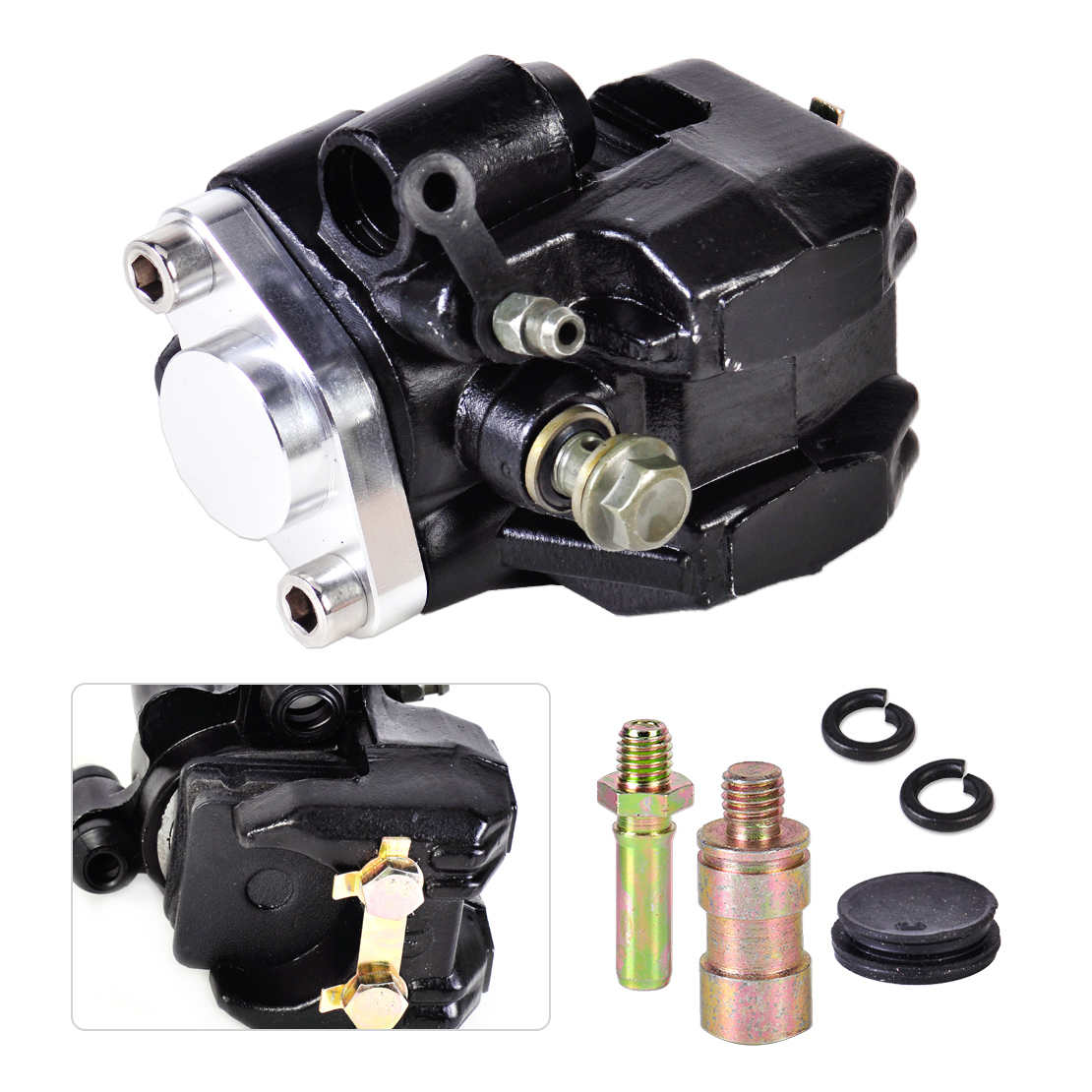 ФОТО New Rear Brake Caliper Replacement with Kit fit for Honda ATV TRX 300EX 1993-2000 2001 2002 2003 2004 2005 2006 2007 2008 2009