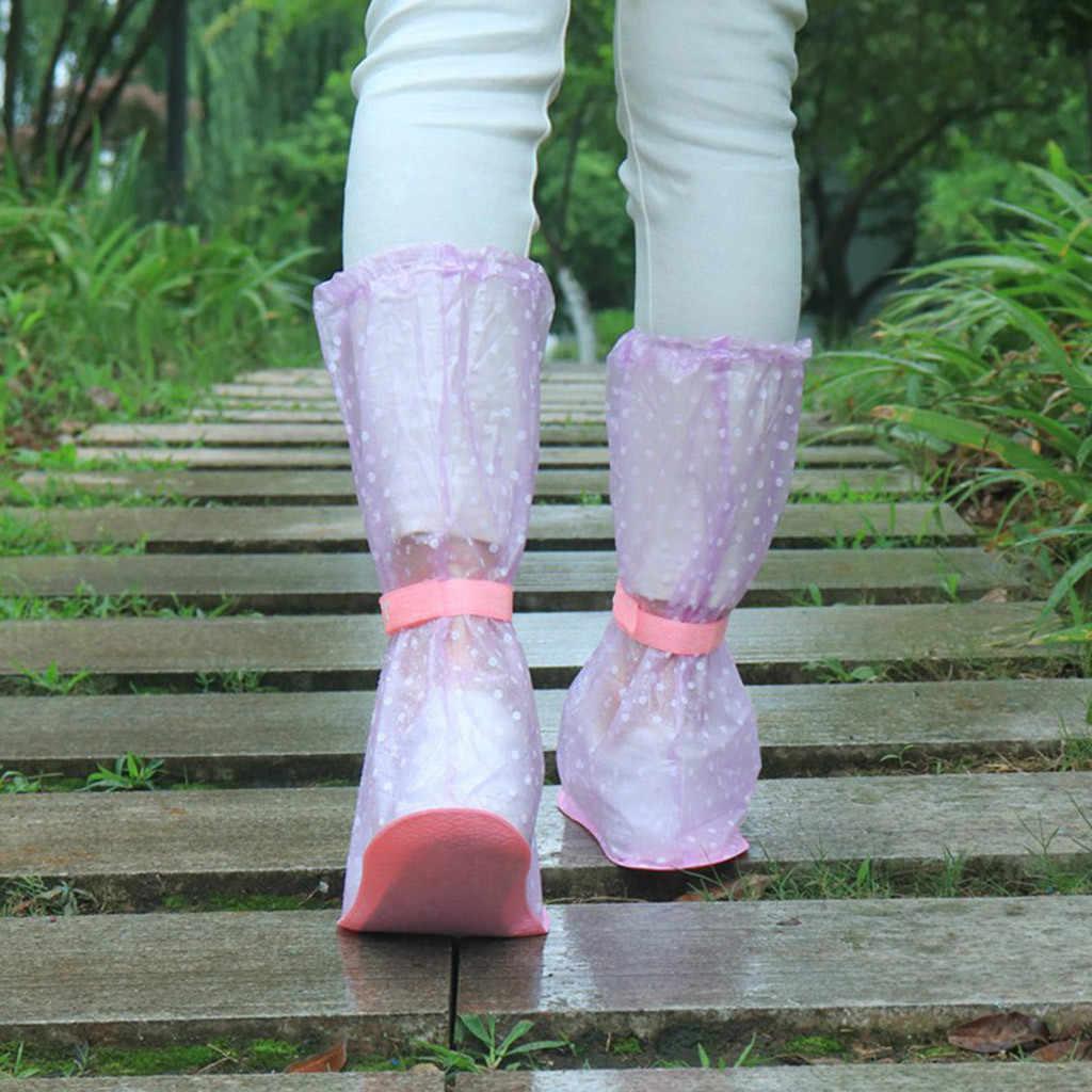 Impermeabile Scarpa Coperture Impermeabile Adulto Flattie Elastico Scarpa Pioggia Coperture Con Materiale Durevole DEL PVC Per Scarpe Da Viaggio Accessori