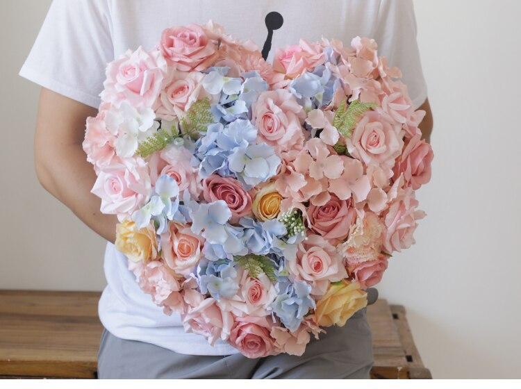 Rose soie Rose hortensia faux plantes fougère artificielle fleur ruban mariage voiture fleur ensemble décoration mariage fournitures-in Fleurs séchées et artificielles from Maison & Animalerie    3