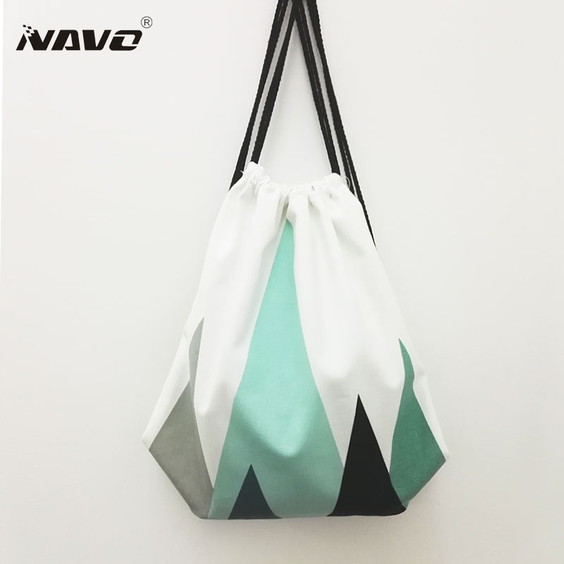 Fresh Style Canvas Drawstring Backpack Fashion School Bagpack Bookbag Cotton Drawstring Shoe Bags Cinch Bag Mochila Feminina kitcox70427sfc023803 value kit naturehouse fresh nap moist towelettes sfc023803 and glad forceflex tall kitchen drawstring bags cox70427