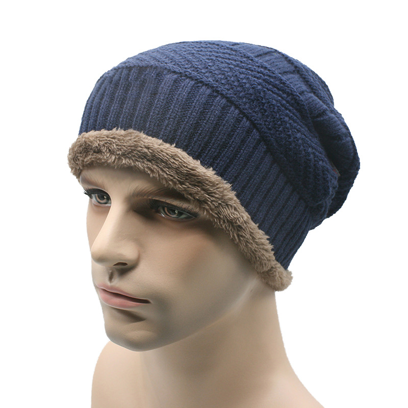 2017 new men warm hats beanie hat winter knitting wool hat for unisex caps lady beanie knitted caps women s hats warm z1 1Pcs Blue Men Warm Hats Beanies For Men Hat Winter Knitting Hat Unisex Caps Lady Beanie Knitted Caps Women's Hats Outdoor Warm