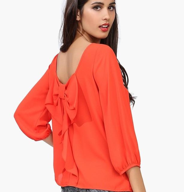 Nuevo 2014 mujeres blusa de encaje decoración blusa de la gasa blusa mujeres # 2014-01