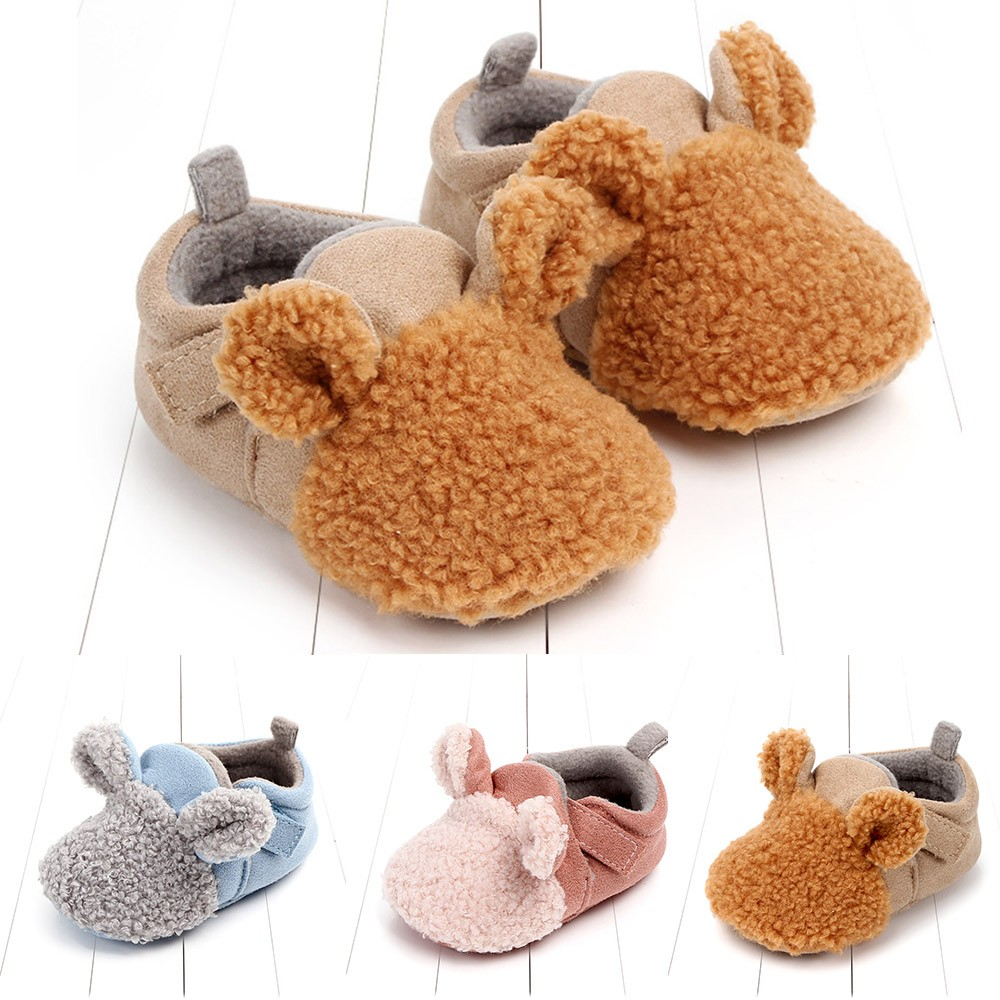 Mother & Kids Baby Shoes Muqgew 2019 Hot Sale Newborn Baby Girls Boys Flock Ear Warm Winter First Walker Soft Sole Shoes Dropshiping Baby Shoes Shrink-Proof