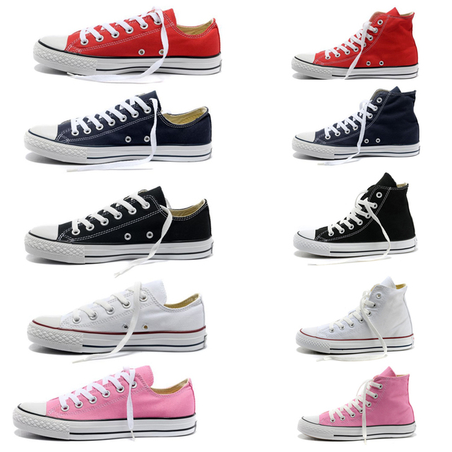 New Womens Lady Classic Fashion Sneakers Low High Top Shoes Chucks Canvas  Casual Trainer Flats Lace
