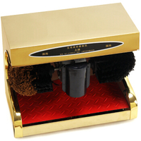 Fully Automatic Shoe Shine Machine Home Induction Office Use Electric Brush Shoes Machine Earthly Gold Shoe