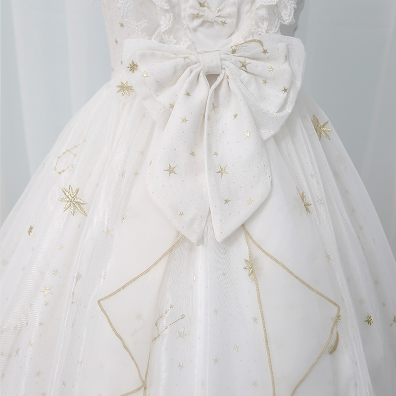 8527e4850b Aliexpress.com   Buy Starry Night ~ Sweet Star Embroidered Long Lolita  Dress Navy Blue White Party Gown from Reliable Dresses suppliers on  LoliGals Lolita ...