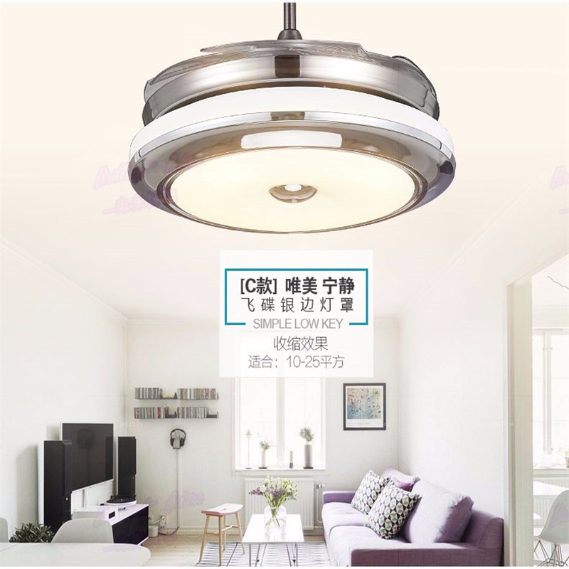 Ceiling fan light LED invisible ceiling light remote control ceiling lamp 36 inch 42 inch 110v/220V ...