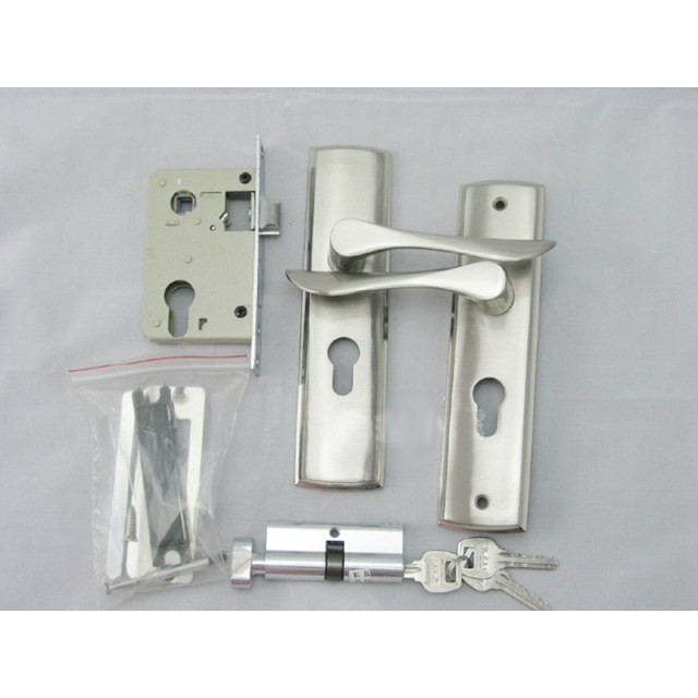 New Aluminum Material Interior Door Lock Living Room Bedroom Bathroom Handle Free Shipping