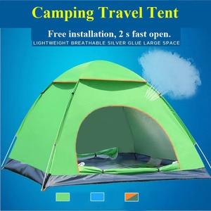 Image 3 - Di grandi dimensioni di tiro tenda esterna 3 4 persone automatico della velocità aperto lanciare pop up antivento impermeabile spiaggia tenda da campeggio grande spazio