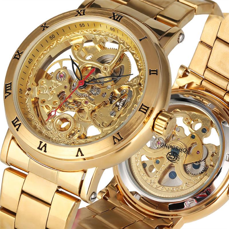 기계식 시계 남자 자동 감기 톱 브랜드 럭셔리 tevise 해골 손목 시계 시계 시계 남성 reloj hombre-에서기계식 시계부터 시계 의  그룹 1