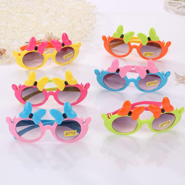 2018 Cartoon Rabbit Butterfly Heart Sunglasses Kids Children Summer Glasses Birthday Party Favors Gift Christmas New