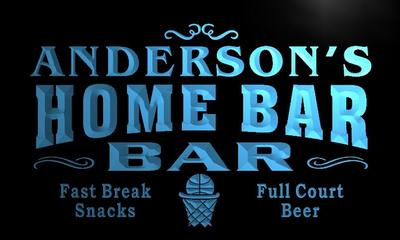 x1011-tm Andersons Home Bar Slam Dunk Custom Personalized Name Neon Sign Wholesale Dropshipping On/Off Switch 7 Colors DHL