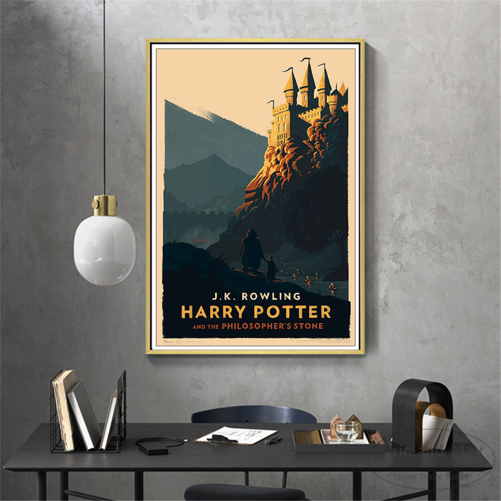 Hogwarts Express Movie Silhouette Posters And Prints Canvas Art Decorative Wall Pictures For Living Room Home Decor Painting in Painting Calligraphy from Home Garden