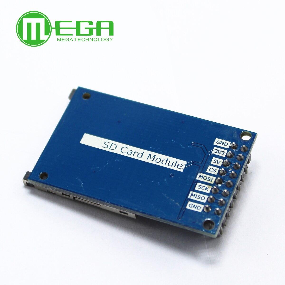 10 шт. модуль чтения и записи для arduino SD карты Модуль Слот гнездо считыватель ARM MCU