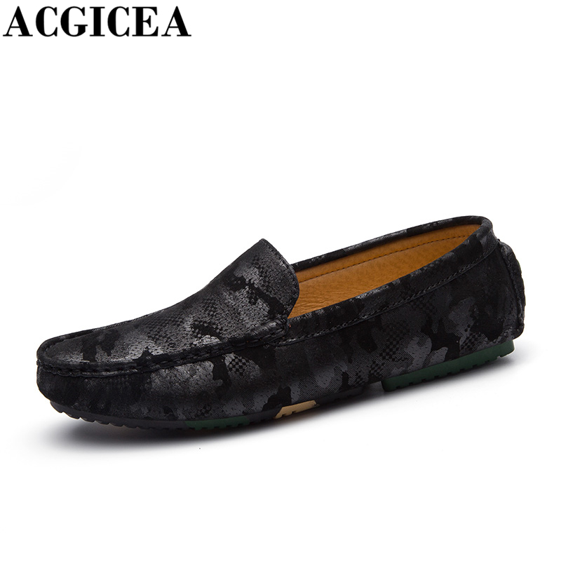 ACGICEA Hot Sale Fashion Camouflage Men Loafers Mens Slip On Breathable Non-slip Casual Driving Shoes Men Boat Shoes Size 38-44