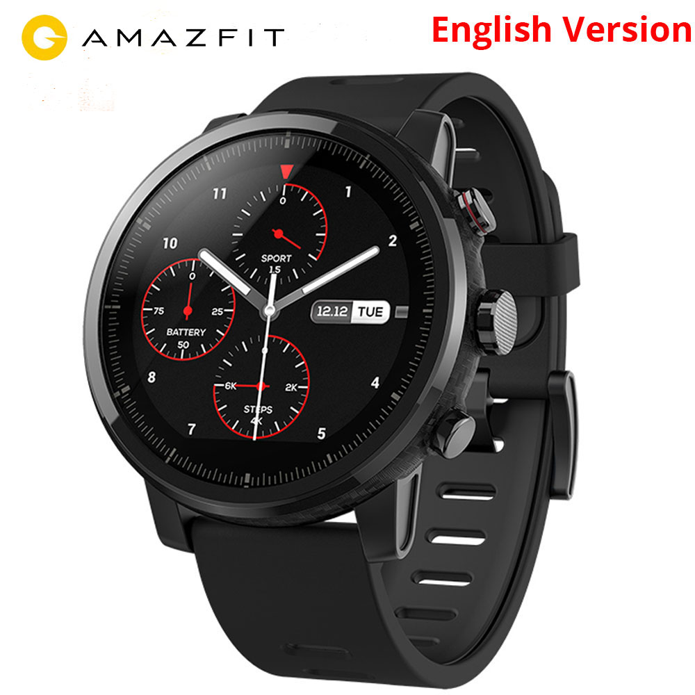 US $165 2 27% OFF|English Version Xiaomi Huami Amazfit Smart Watch Stratos  2 GPS PPG Heart Rate Monitor 5ATM Waterproof Sports Smartwatch-in Smart