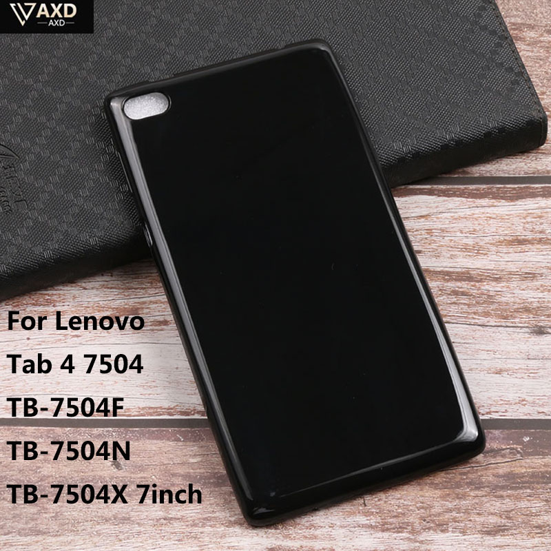 Soft Silicone TPU Case For <font><b>Lenovo</b></font> Tab4 Tab 4 7 inch <font><b>TB</b></font>-7504 <font><b>TB</b></font>-7504F <font><b>TB</b></font>-7504N <font><b>TB</b></font>-<font><b>7504X</b></font> Tablet Protective Funda For <font><b>Lenovo</b></font> TAB4 image