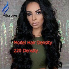 Alicrown 220% Glueless Lace Wigs Human Hair Curly Lace Front Wigs Brazilian Hair Full Lace Curly Wig With Baby Hair Thick