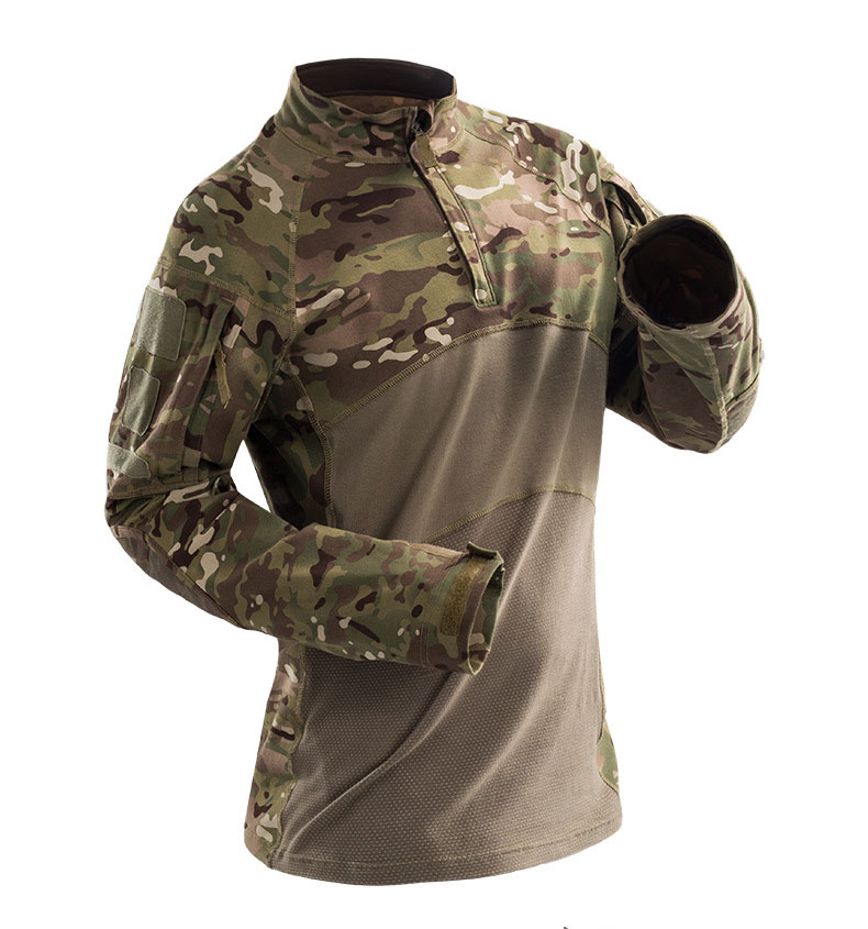 HTB18VPKXc vK1RkSmRyq6xwupXaG - Military Mens Camouflage Tactical T Shirt Long Sleeve Brand Cotton Breathable Combat Frog shirt Men Training Shirts S-3XL AF112