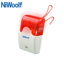 Strobe Siren Wired Led-Light Security-Alarm 12V To And Flash Niwoolf for GSM/PSTN Home