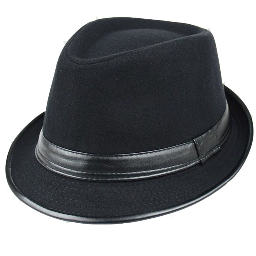 The Hot sale Winter hat children Han Banchao fashion wool jazz hat Vintage all-match hat men in autumn and winter