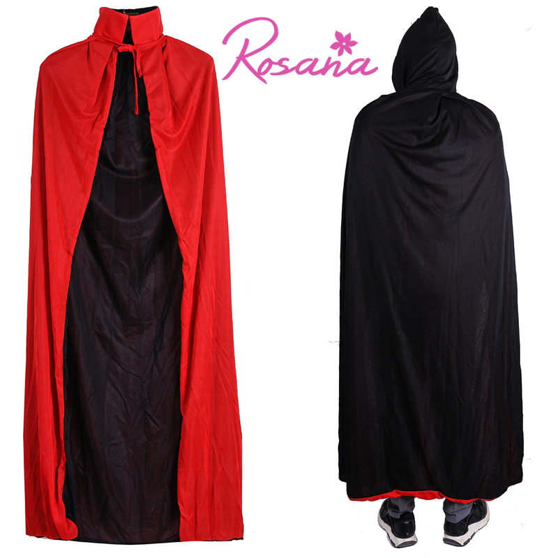 Rosana Halloween Party Cosplay Clothing Long Cloaks Hood Costumes Dress For Men Women Kids Cartoon Hats