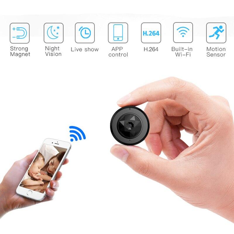 Wi-Fi P2P IP 720P HD мини Камера Беспроводной экшен-камера велосипед ИК Ночное видение Камера Mini DV камера-видеорегистратор видео голос Регистраторы...