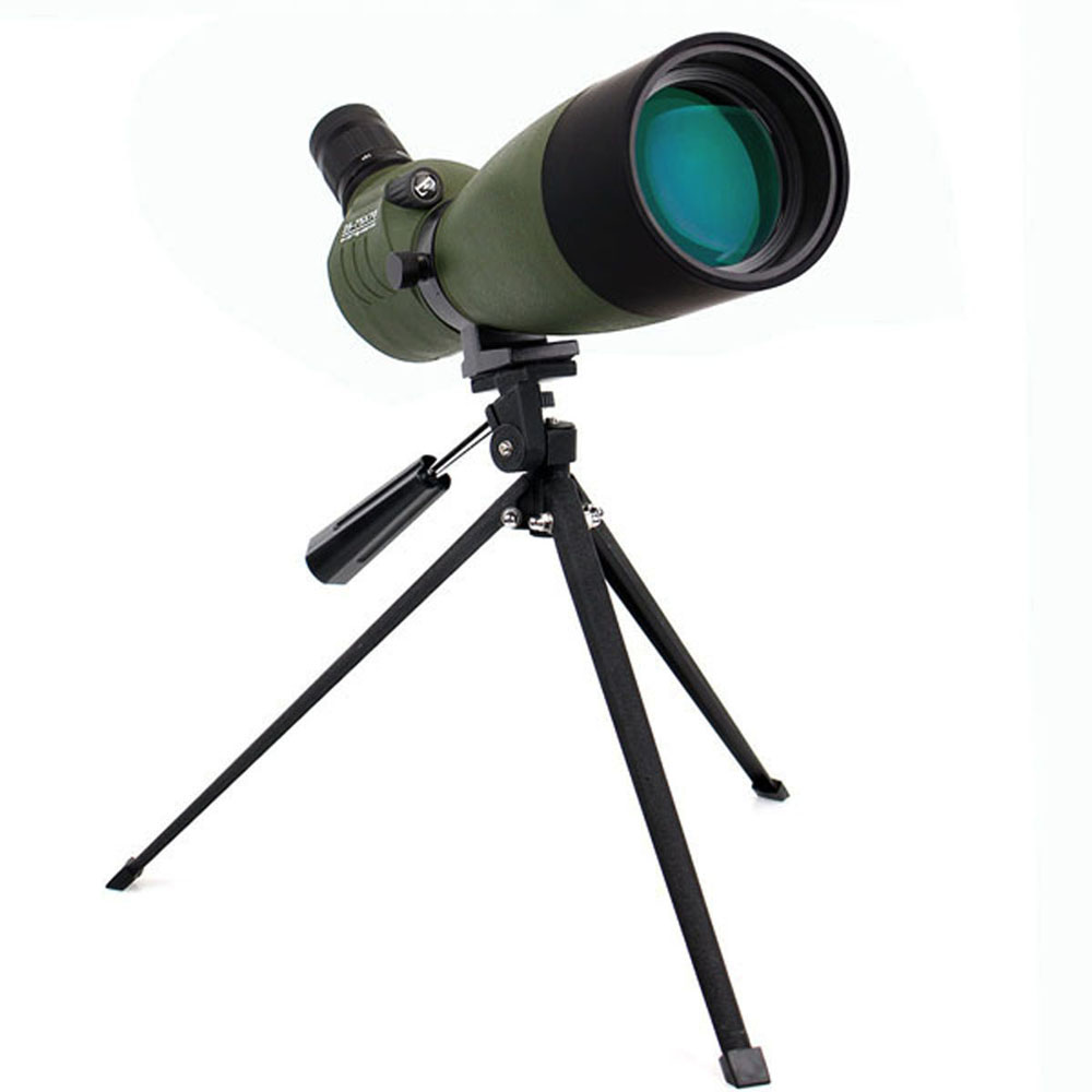 LAIDA 25-75x70mm Spotting Scope Monocular Zoom 45-Degree Angled for Target Practice w/ Tabletop Tripod M0051