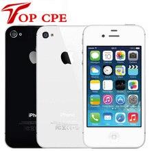Заводской разблокированный Apple iPhone 4S IOS двухъядерный 8MP wifi gps WCDMA 3,5 дюймов 1080P сенсорный экран iCloud мобильный телефон