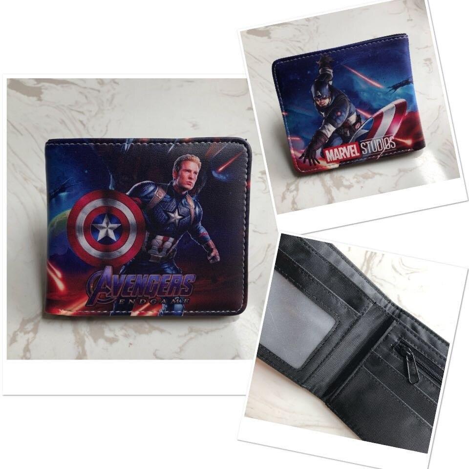 e0f24985c DC Marvel Comics animación carteras de cuero de calidad Capitán ...