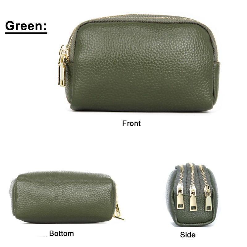 Fashion Short Coin Purse Women Genuine Leather Female Money Wallet Casual Coin Purses Card Holder Girls Clutch Zipper Coin Bag