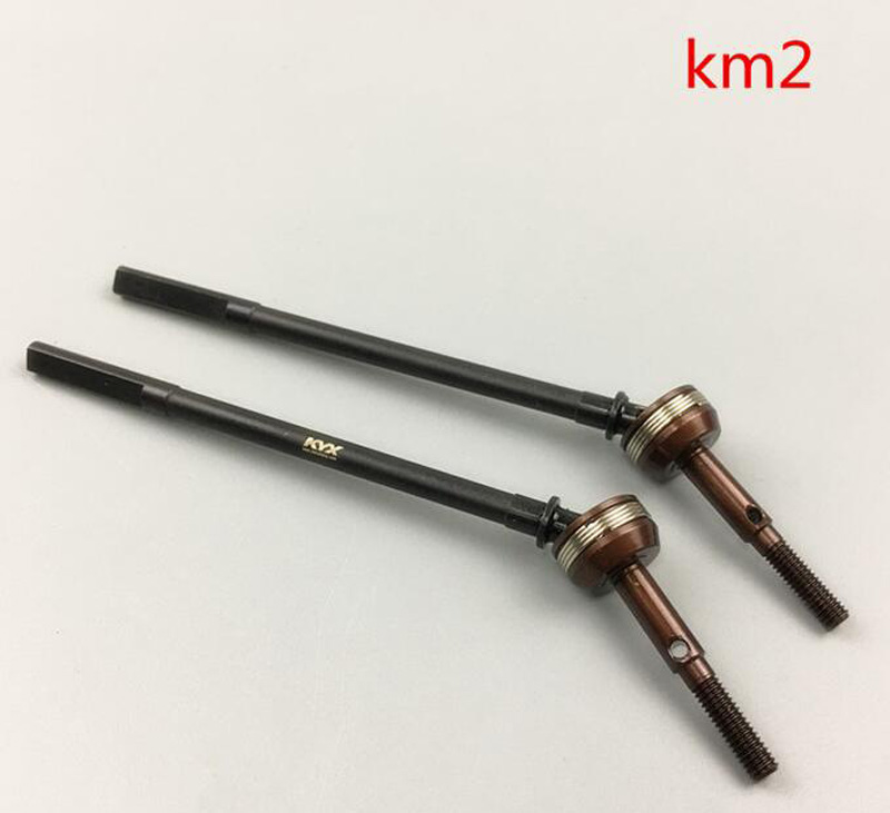 1Pair Universal Joint Transmission Cardan Drive For 1/8 Rock Crawler TRACTION km2 Reinforced Steel CVD RC Car Parts Accessories steel drive shaft joint cvd 110 155mm