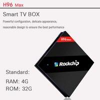 H96 max tv box android 7,1 4 ГБ 32 ГБ RK3399 Cortex 53 4 к 60 FPS tvbox WiFi медиаплеер H96mini smart Set top tv box