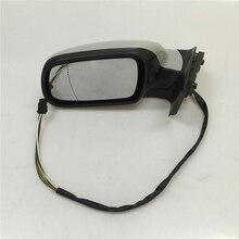 Para peugeot 307 coche eléctrico espejo lateral retrovisor espejos exteriores (manual plegable con una cubierta decorativa) envío gratis