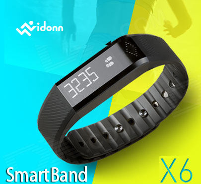 "Wholesale Vidonn X6 0.88"" IP65 Bluetooth V4.0 Smart Watch Wristband Bracelet w/ Sports Track / Sleep Monitor Message Display"