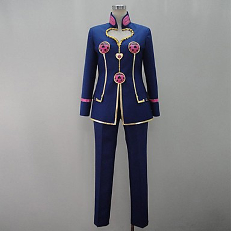 Anime JoJo s Bizarre Adventure Golden Wind Giorno Giovanna Cosplay Costume customized