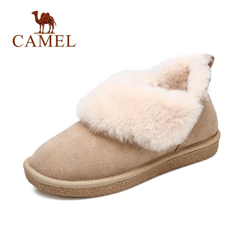 CAMEL Women Snow Boots Shoes Winter Colorful Snow Short Boots Shoes Women Plus Velvet Warm Non-Slip Keep Shoe For Ladies цена