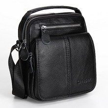 High Quality Genuine Leather Shoulder Bags For Men Real Cowhide Mini Messenger Bag Crossbody Bags Business  LJ-863