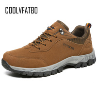 COOLVFATBO Men Boots Anti skidding Winter Shoes Men Plush Warm Winter Boots Men Plus Size High Quality