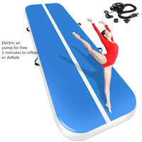 2019 New Airtrack 4*1*0.2m Inflatable Air Tumble Track Olympics Gym Mat Yoga Inflatable Air Gym Air Track Home use Free Shipping