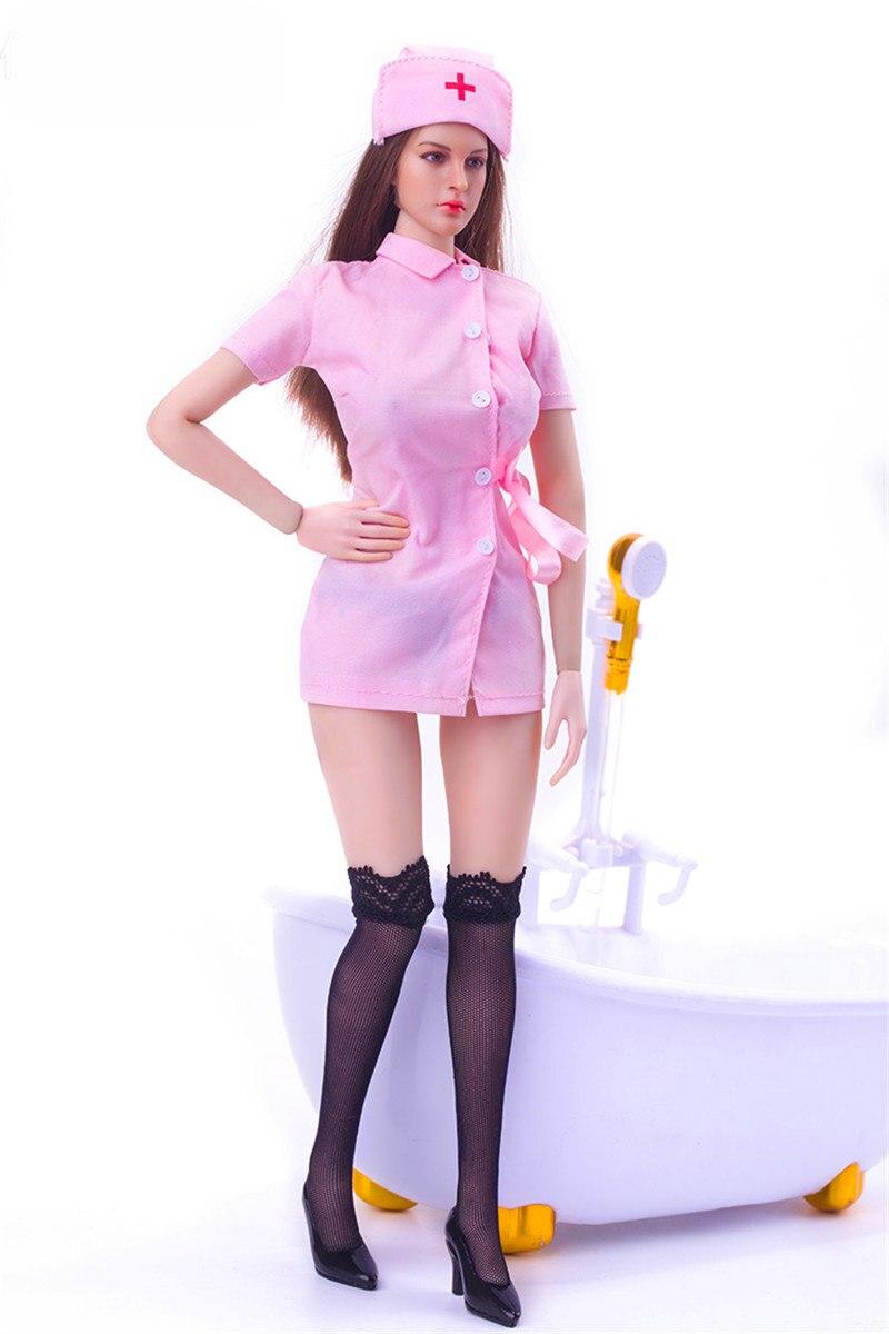 Mnotht 1/6 moda sexy Cosplay enfermera traje vestido para 12in ...