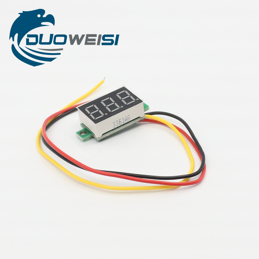 Rd Dc 0 100v 036 Digital Voltmeter Three Wires 3 Bit Car Voltage Wiring In Panel Meter Display Led Color Replacement Parts Accessories From Consumer