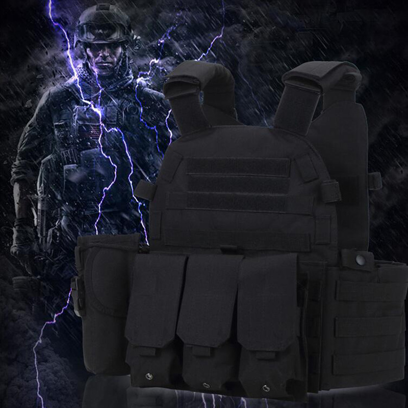 Outdoor Tactical Vest Camouflage Vest Military Equipment Molle Waistcoat Army Training Combat Hunting Protection Vest 6 Colors spanker 1000d camouflage tactical molle tank mechanic chef cooking grilling apron army training hunting waterproof nylon vest
